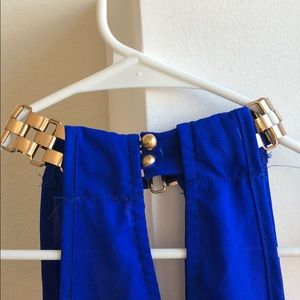 Charlotte Russe Tops - *3/$15* Royal Blue Chain Keyhole Choker Top